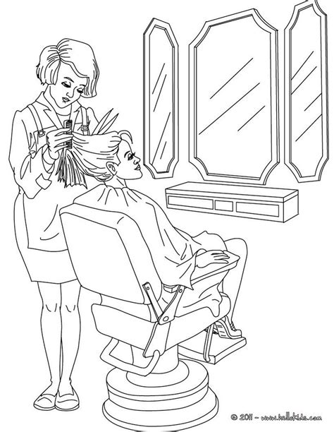 green  color  hairdresser coloring page amazing