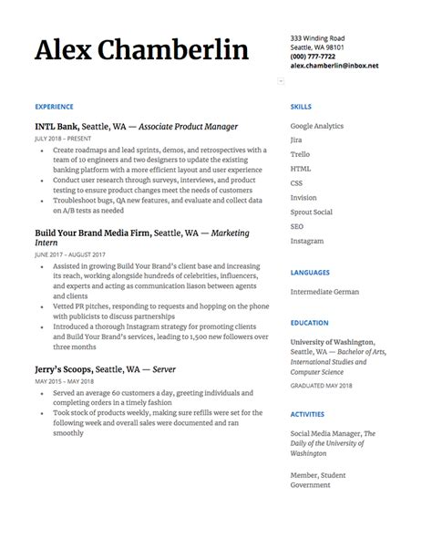 Chronological Resume by How To Write A Chronological Resume Plus Exle The Muse