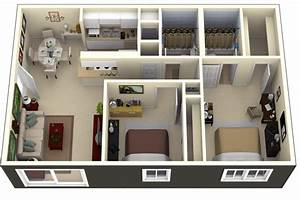 50, 3d, Floor, Plans, Lay-out, Designs, For, 2, Bedroom, House, Or, Apartment