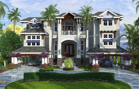 Mediterranean House Plans Two Story Waterfront Narrow