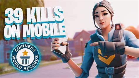 world record  kills   mobile fortnite