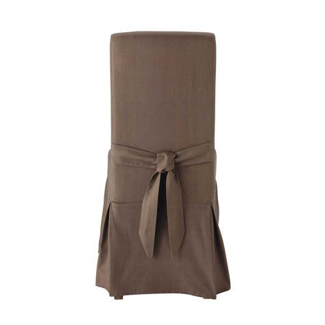 housse de chaise taupe housse de chaise avec nœud en coton taupe margaux