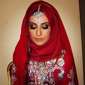 gold and red indian bride makeup - Google Search | MAKEUP ...