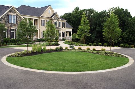 landscaping a circular driveway driveway circle landscape contemporary with driveway island landscape