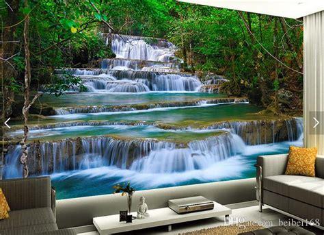 waterfalls wallpaper photo wall mural  bedroom wall