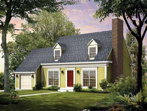 cape home plans cape cod house style with garage designed with green wall