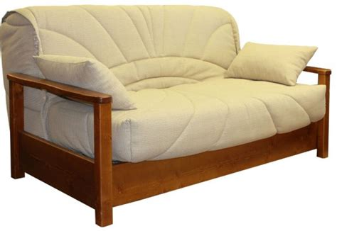 bz avec socle et accoudoirs en bois achetez une banquette lit bz bois dormissima
