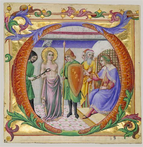 martyrdom  saint agatha   initial  sano  pietro