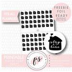 Stickers Stay Planner Printable Luchtballon Poppenhuis Icons