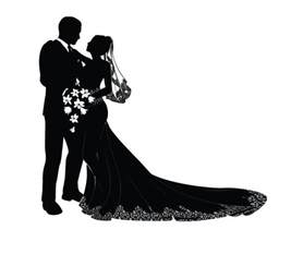 Bride and Groom Silhouette Clip Art Free