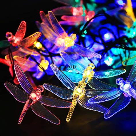 outdoor  leds solar dragonfly waterproof lights solar