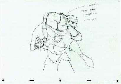 Sinbad Seas Seven Legend 2003 Character Drawing