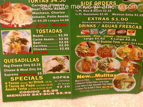 menu  alberts mexican food restaurant la puente