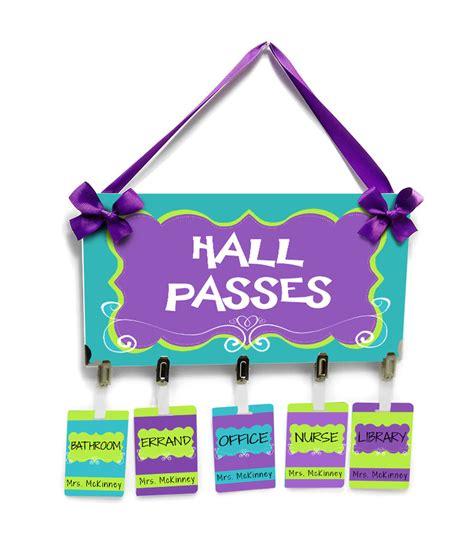 Bathroom Pass Ideas For Kindergarten by Classroom Passes Teachers School Bathroom Passes Purple