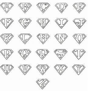 printable superman logo letter cricut pinterest With superman alphabet template