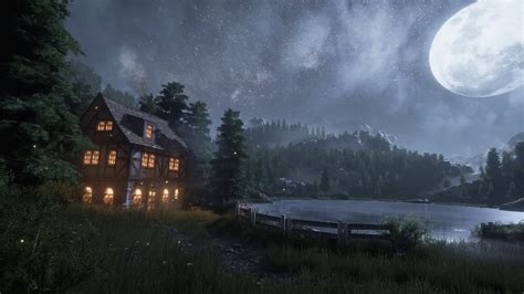 creating  quick unreal engine  nightlake scene youtube