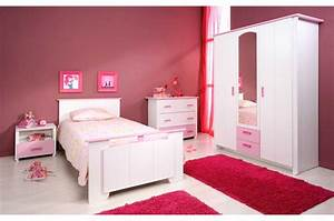chambre enfant fille complete blanche et rose With chambre fille style anglais
