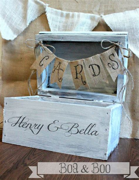 shabby chic wedding card box ideas shabby chic rustic wooden card box wedding card box