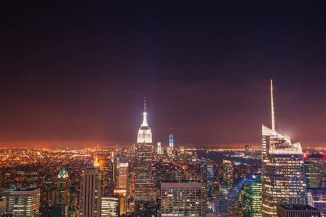 new york city lights at photograph by vivienne gucwa