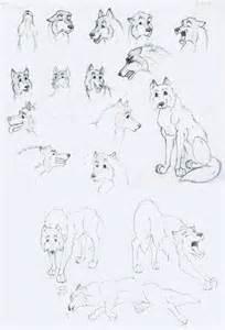 Cartoon Wolf Sketch Drawings