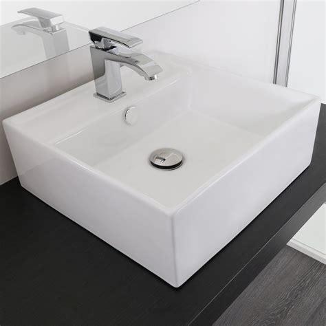rubinetti per lavabi da appoggio lavabo da appoggio rettangolare 41x41 in ceramica con