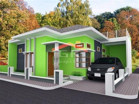 cat luar rumah warna hijau rumah modernisme  rumah