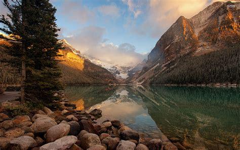 charming banff kanada provinz alberta hintergrundbilder