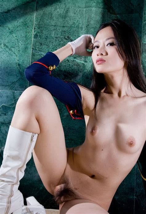 Beautiful Sporty Asian Girl In Uniform Shows Hairy Pussy