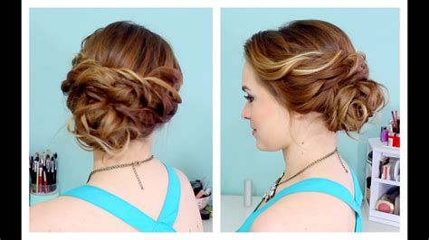 Quick Side Updo For Prom! (or Weddings!