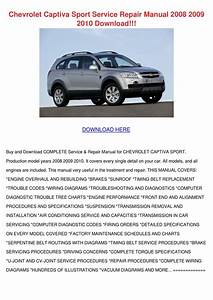 Chevrolet Captiva Sport Service Repair Manual By