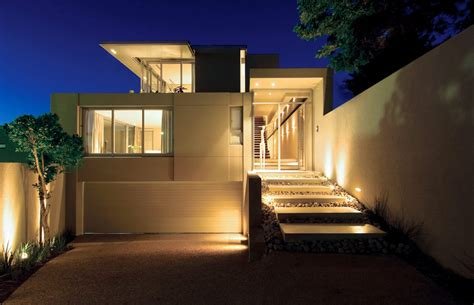 Exterior Small Home Design Ideas by Modern Outdoor Lightning As Illuminating Decoration For