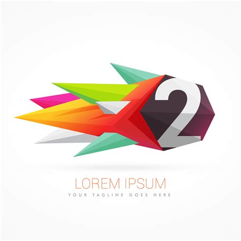Colorful Abstract Logo With Number 2
