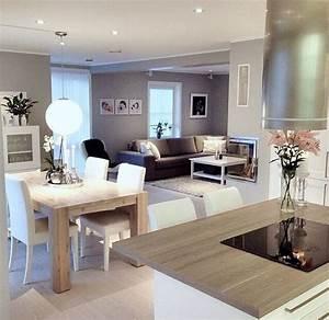 Cuisine ouverte inspiration deco interieure pinterest for Deco cuisine avec salle a manger moderne bois clair