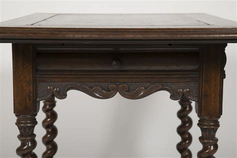 Dutch Oak Baroque Style Table With Inlaid Slate Top