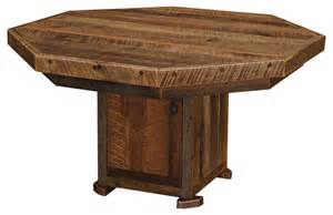 Rustic Basement Bar by Poker Table Cover 8 Sided Rustic Game Tables By