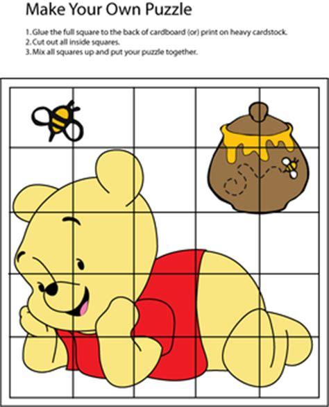 puzzle winnie  pooh games  printable ideas