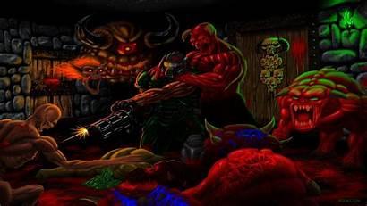 Doom Brutal Wallpapers Background Desktop Pc Backgrounds