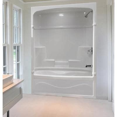 Air Jet Tub Shower Combo by Mirolin 60 Inch 3 Acrylic Tub And Shower