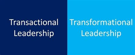 difference  transactional  transformational