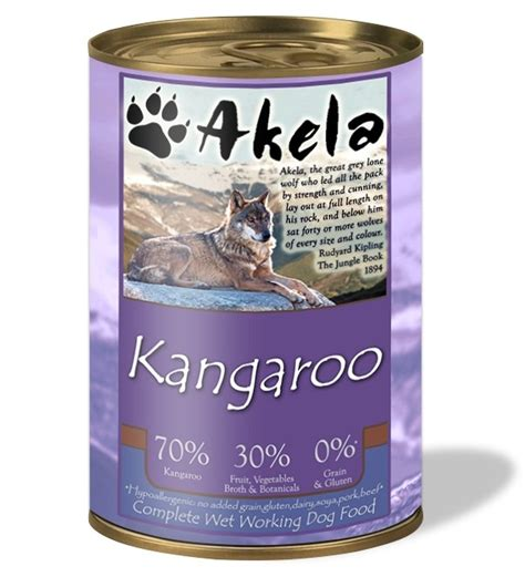 akela grain  complete wet working dog food