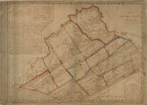 Early Pennsylvania County Map of PA