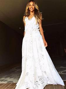 ciara wore another custom roberto cavalli gown to her With roberto cavalli wedding dresses