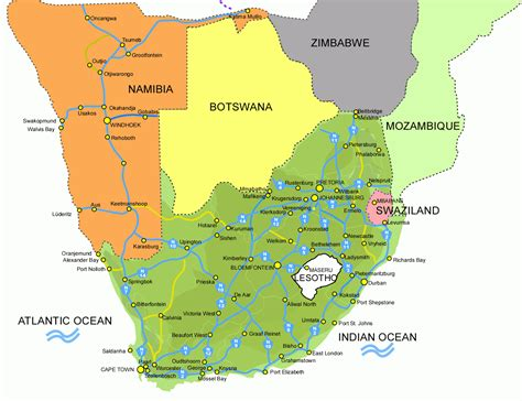 south africa map pictures