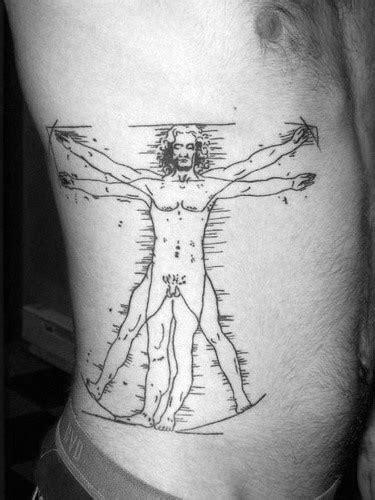 50 Vitruvian Man Tattoo Designs For Men - Da Vinci Ink Ideas