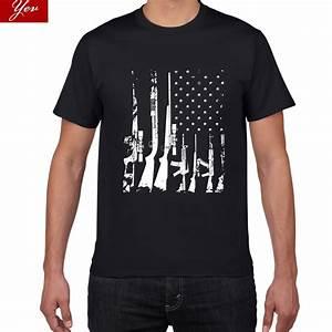 American Flag Machine Guns T Shirt men Spirit Forged ...