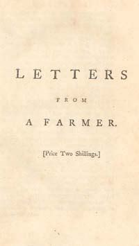 letters from a farmer in pennsylvania the townshend acts trigger of the american revolution 37685