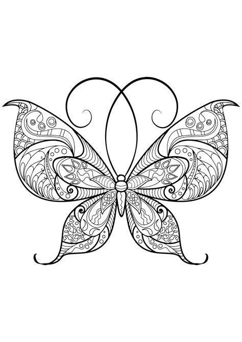 disegni da colorare per adulti farfalle immagini farfalla da colorare