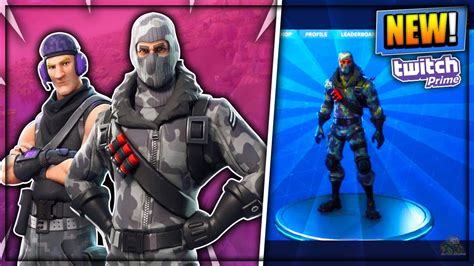 exclusive  skins pack fortnite twitch prime