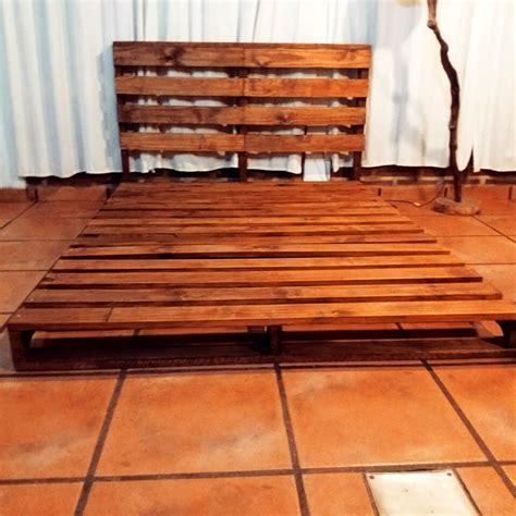 wooden pallet platform bed  pallets