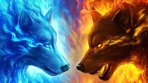 Fire and Ice Wolf